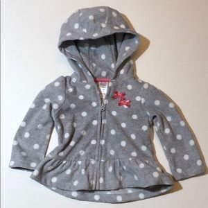 🎈 3/$18 Child of mine by Carter's hoodie sz 6 -9